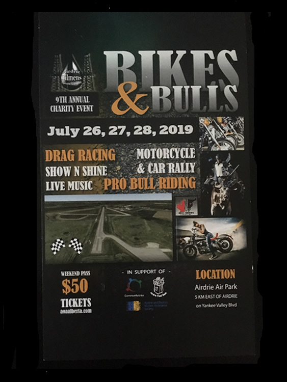 Airdrie Bikes & Bulls poster