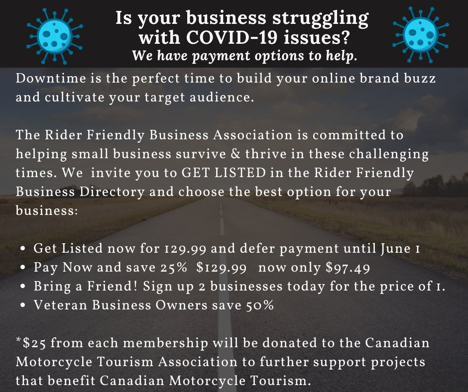 Get Listed in the Rider Friendly Business Directory