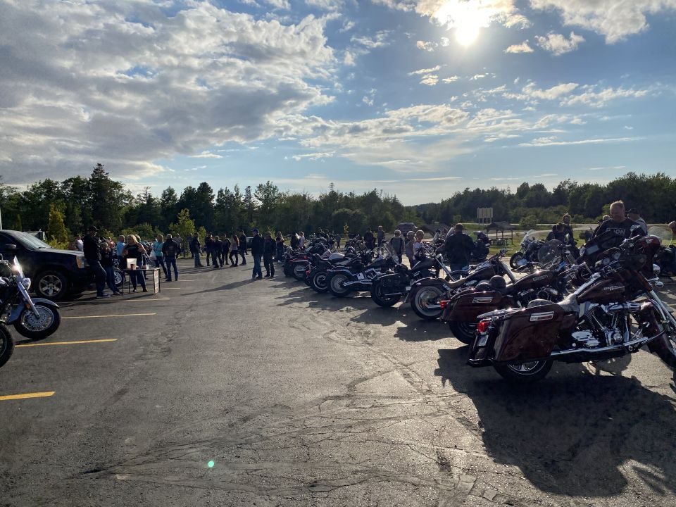 Masstown Bike nights are BAACK! It was so good to see some familiar faces and some new ones out for Tuesday Night Bike Nights at Masstown Market! While we didn't win the 50/50 draw it goes to support a great bikers picnic at the end of riding season so we will live. Lol!
